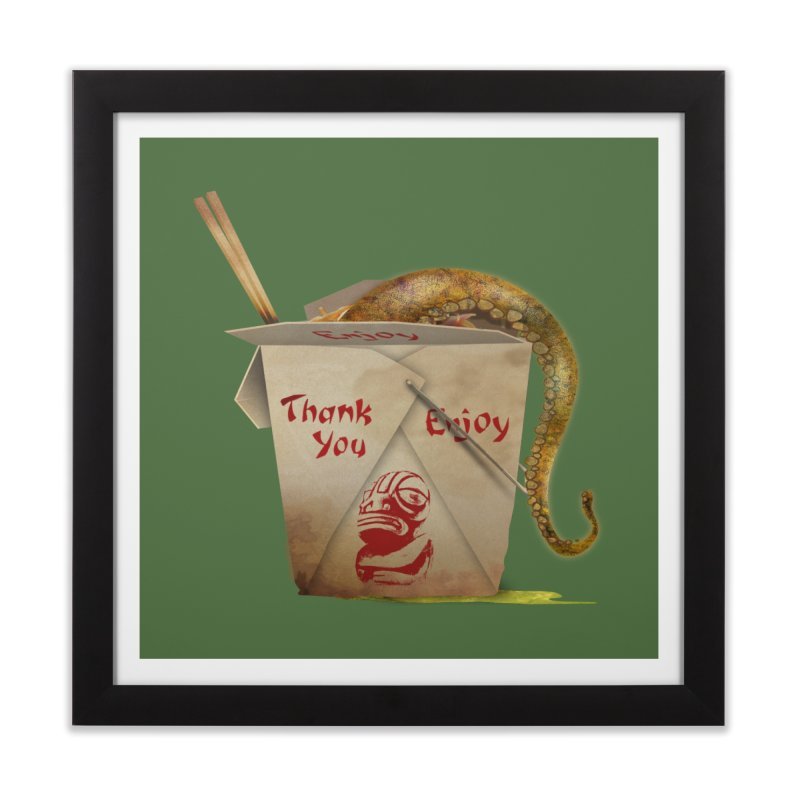 TENTACLE TAKE-OUT Home Framed Fine Art Print by Zerostreet's Artist Shop
