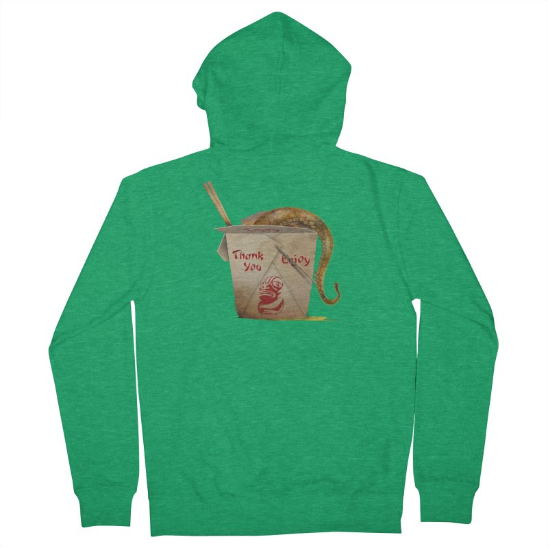 TENTACLE TAKE-OUT Women's French Terry Zip-Up Hoody by Zerostreet's Artist Shop