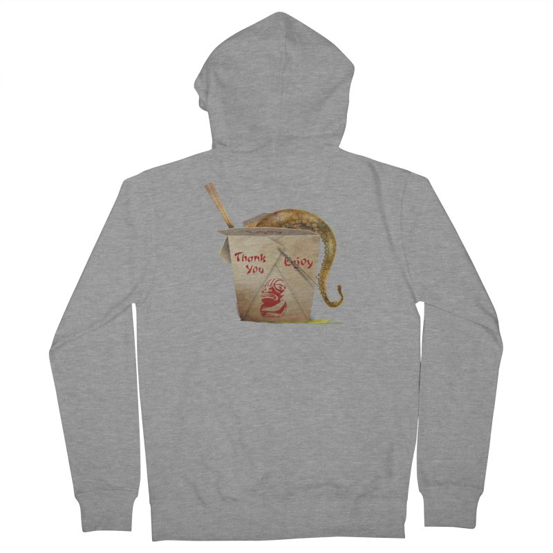 TENTACLE TAKE-OUT Men's French Terry Zip-Up Hoody by Zerostreet's Artist Shop