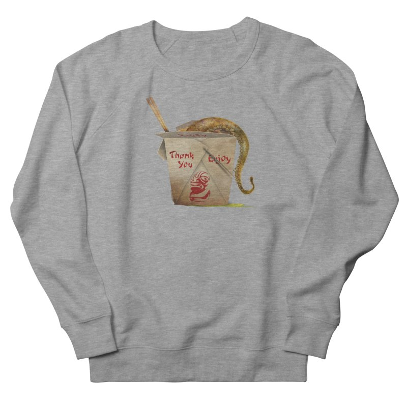 TENTACLE TAKE-OUT Women's French Terry Sweatshirt by Zerostreet's Artist Shop