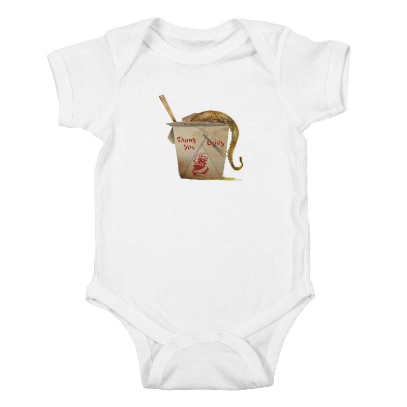 TENTACLE TAKE-OUT Kids Baby Bodysuit by Zerostreet's Artist Shop