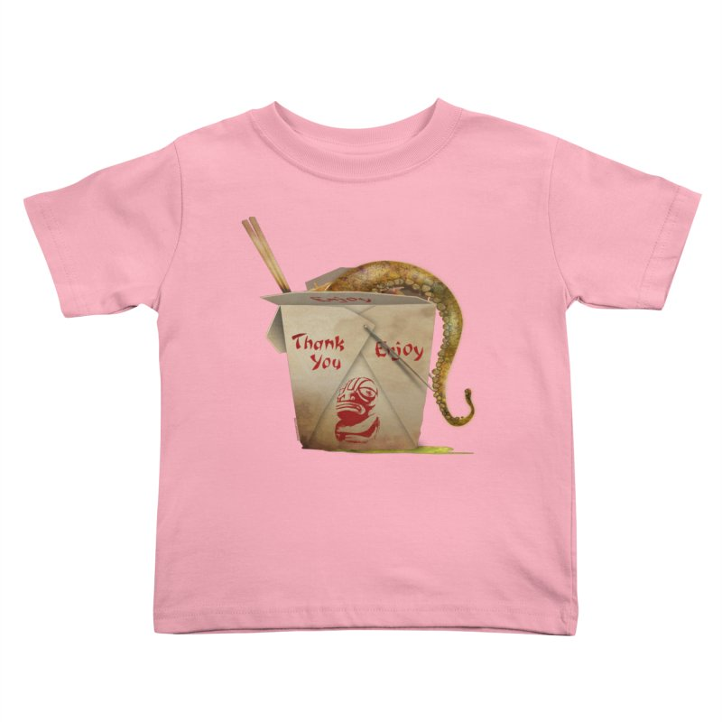 TENTACLE TAKE-OUT Kids Toddler T-Shirt by Zerostreet's Artist Shop