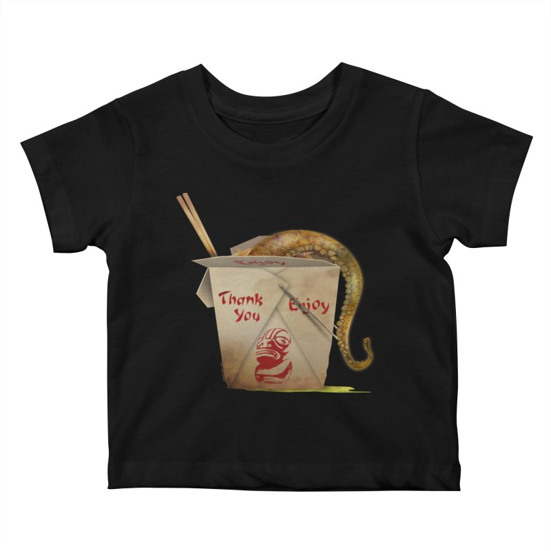 TENTACLE TAKE-OUT Kids Baby T-Shirt by Zerostreet's Artist Shop
