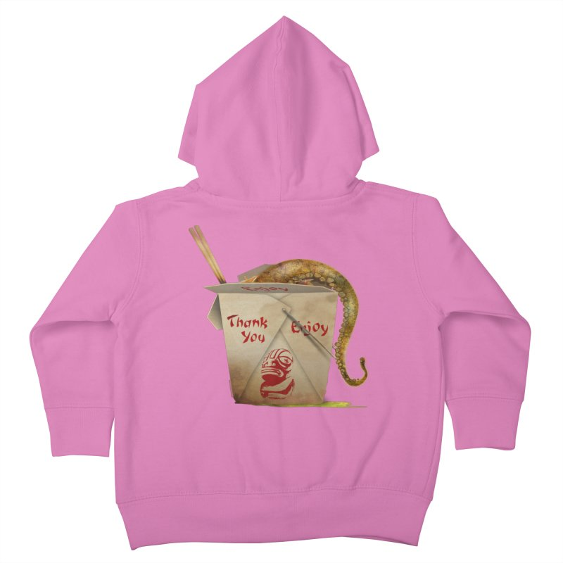 TENTACLE TAKE-OUT Kids Toddler Zip-Up Hoody by Zerostreet's Artist Shop