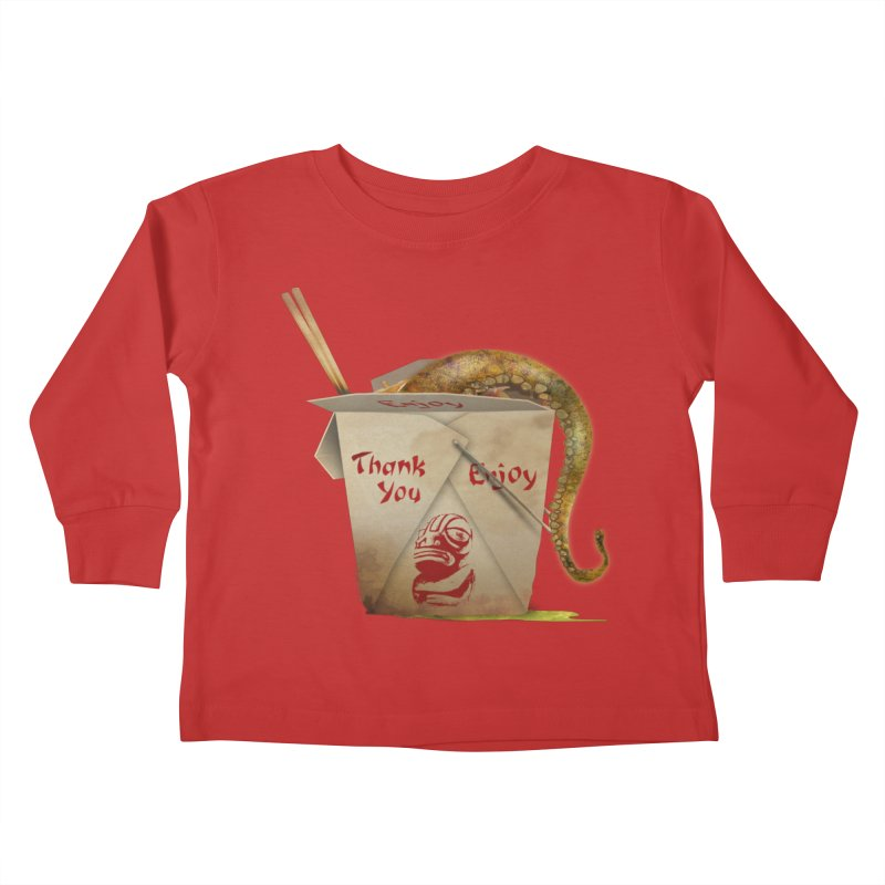 TENTACLE TAKE-OUT Kids Toddler Longsleeve T-Shirt by Zerostreet's Artist Shop