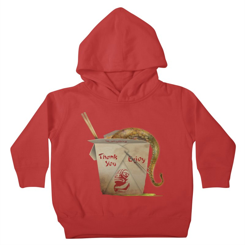 TENTACLE TAKE-OUT Kids Toddler Pullover Hoody by Zerostreet's Artist Shop