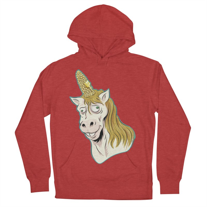 Hot Buttered Unicorn Women's French Terry Pullover Hoody by Zerostreet's Artist Shop