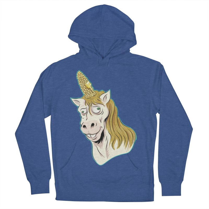 Hot Buttered Unicorn Men's French Terry Pullover Hoody by Zerostreet's Artist Shop