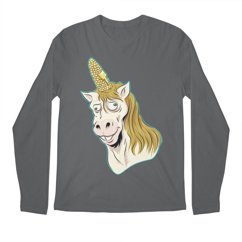 Hot Buttered Unicorn Men's Regular Longsleeve T-Shirt by Zerostreet's Artist Shop