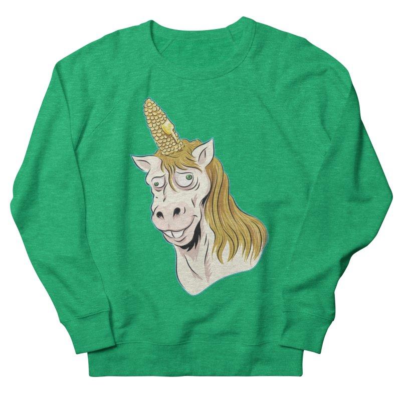 Hot Buttered Unicorn Women's French Terry Sweatshirt by Zerostreet's Artist Shop