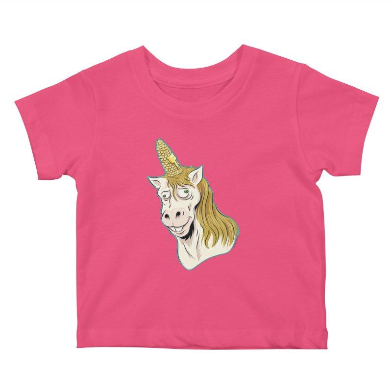Hot Buttered Unicorn Kids Baby T-Shirt by Zerostreet's Artist Shop