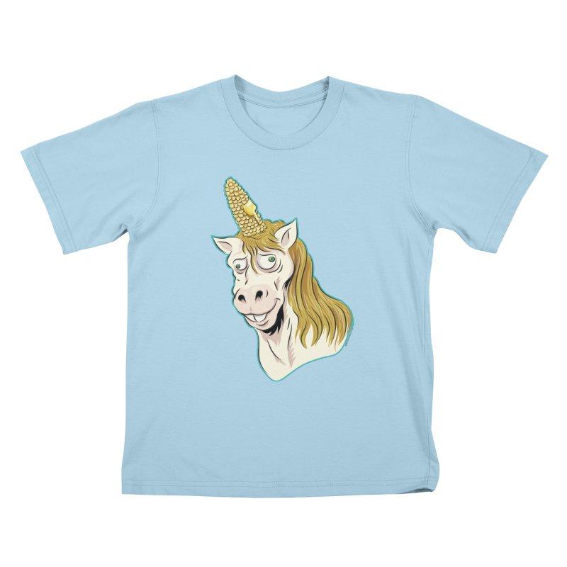 Hot Buttered Unicorn Kids T-Shirt by Zerostreet's Artist Shop
