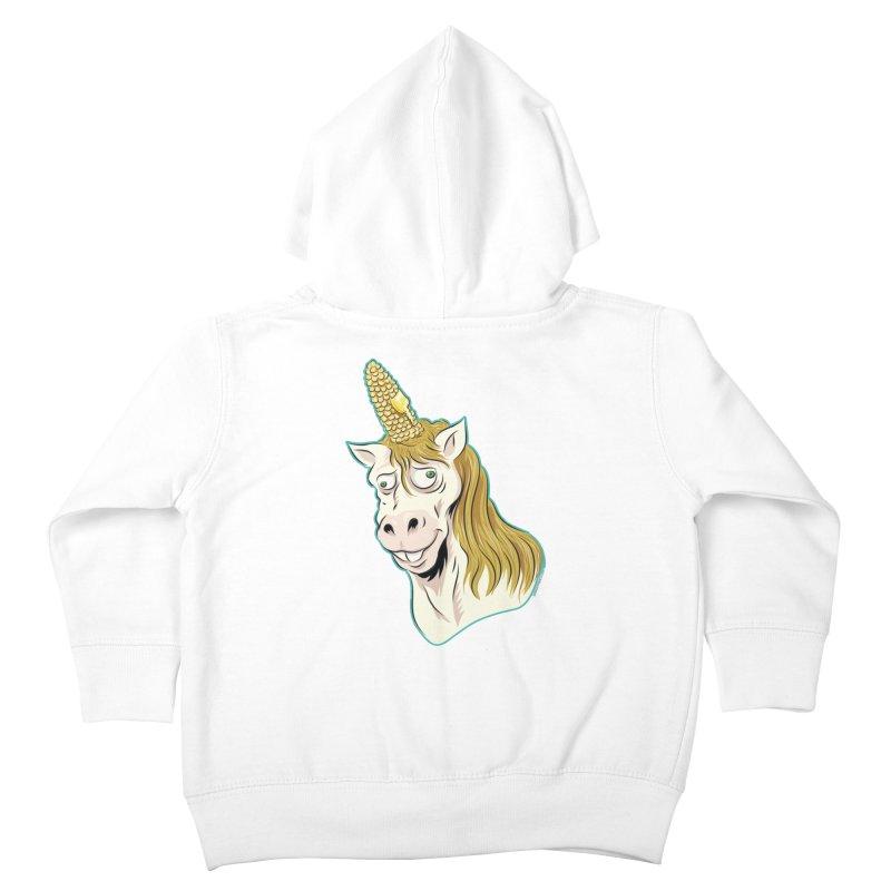 Hot Buttered Unicorn Kids Toddler Zip-Up Hoody by Zerostreet's Artist Shop