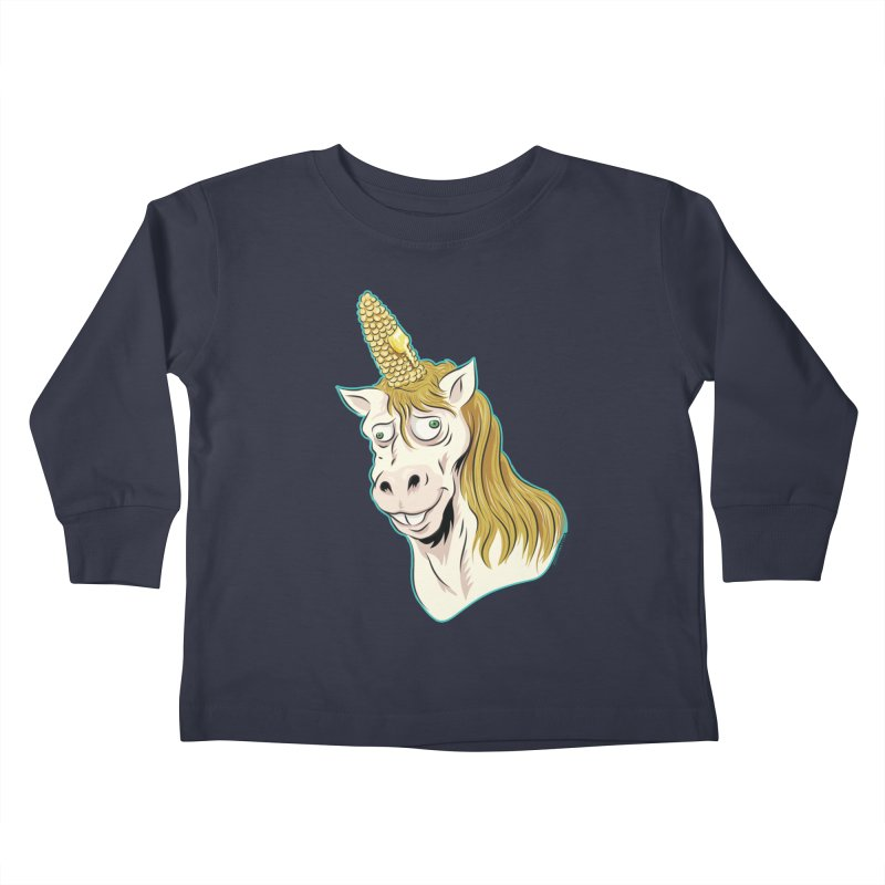 Hot Buttered Unicorn Kids Toddler Longsleeve T-Shirt by Zerostreet's Artist Shop