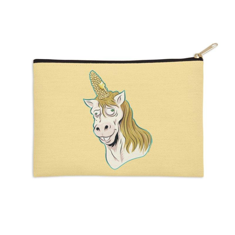 Hot Buttered Unicorn Accessories Zip Pouch by Zerostreet's Artist Shop