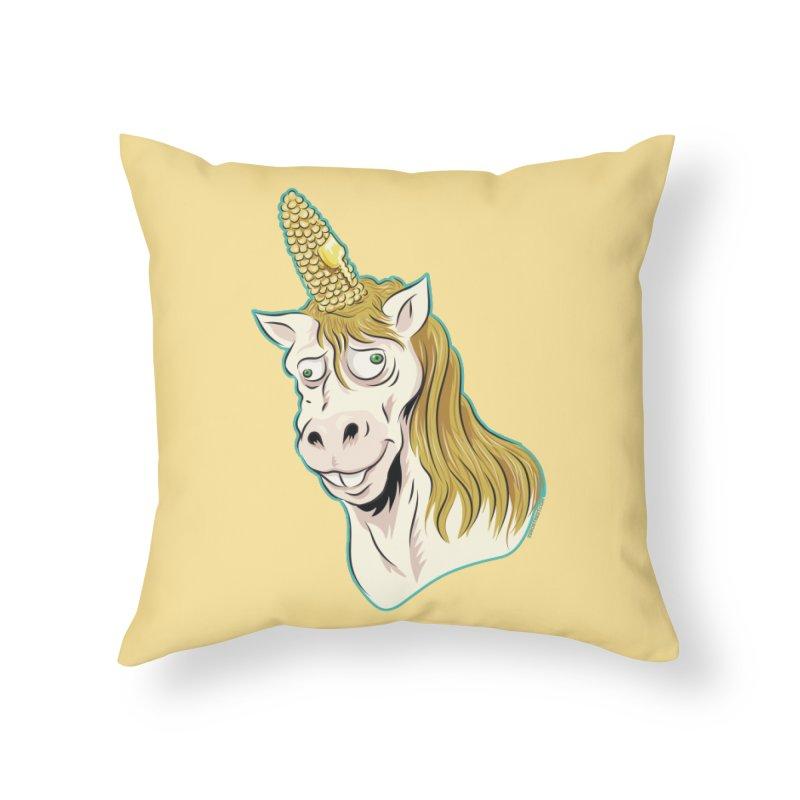Hot Buttered Unicorn Home Throw Pillow by Zerostreet's Artist Shop