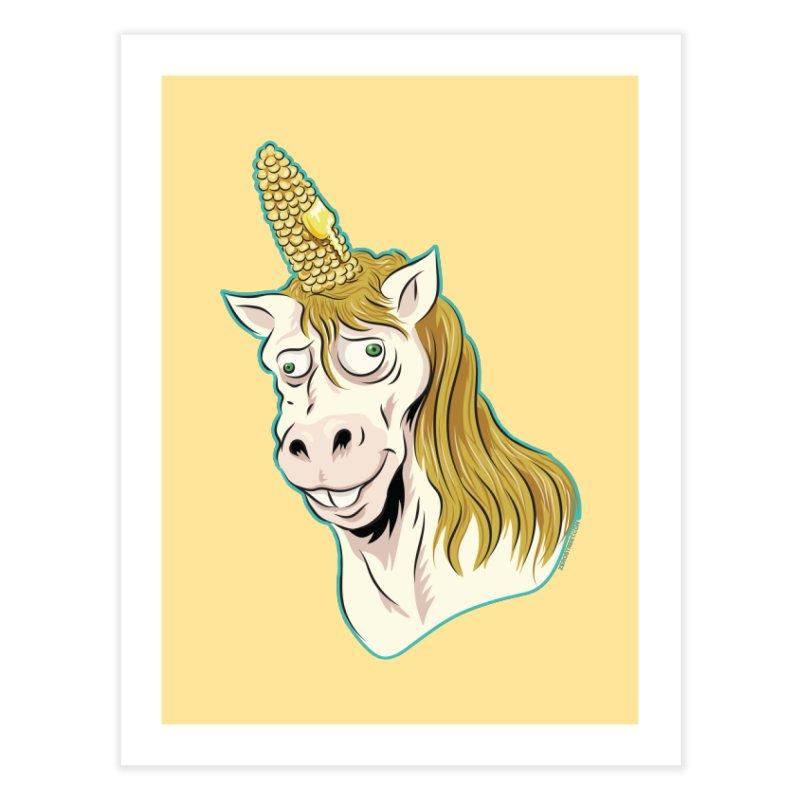 Hot Buttered Unicorn Home Fine Art Print by Zerostreet's Artist Shop