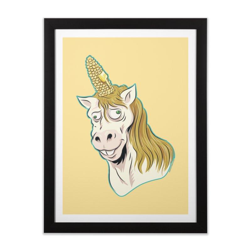 Hot Buttered Unicorn Home Framed Fine Art Print by Zerostreet's Artist Shop