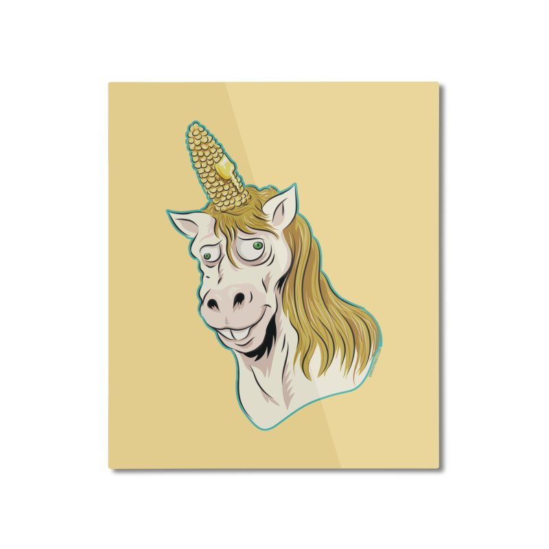 Hot Buttered Unicorn Home Mounted Aluminum Print by Zerostreet's Artist Shop