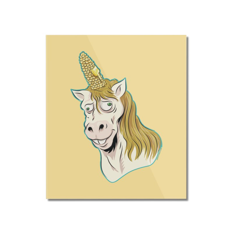 Hot Buttered Unicorn Home Mounted Acrylic Print by Zerostreet's Artist Shop