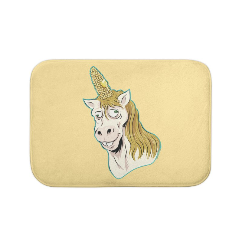 Hot Buttered Unicorn Home Bath Mat by Zerostreet's Artist Shop