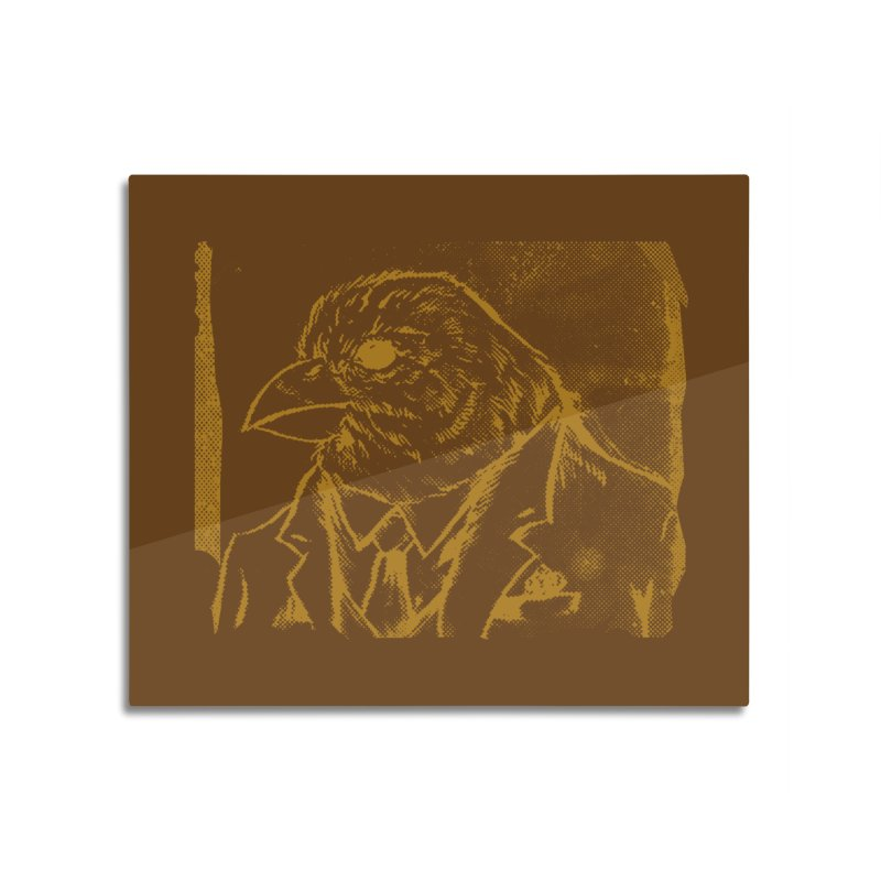 Dapper Finch Home Mounted Aluminum Print by Zerostreet's Artist Shop