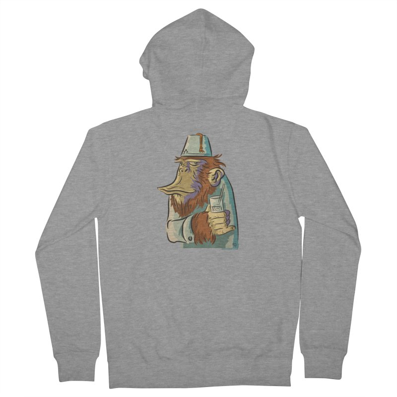 Spence The Chimp Men's French Terry Zip-Up Hoody by Zerostreet's Artist Shop