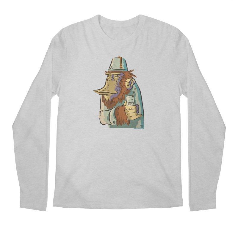 Spence The Chimp Men's Regular Longsleeve T-Shirt by Zerostreet's Artist Shop