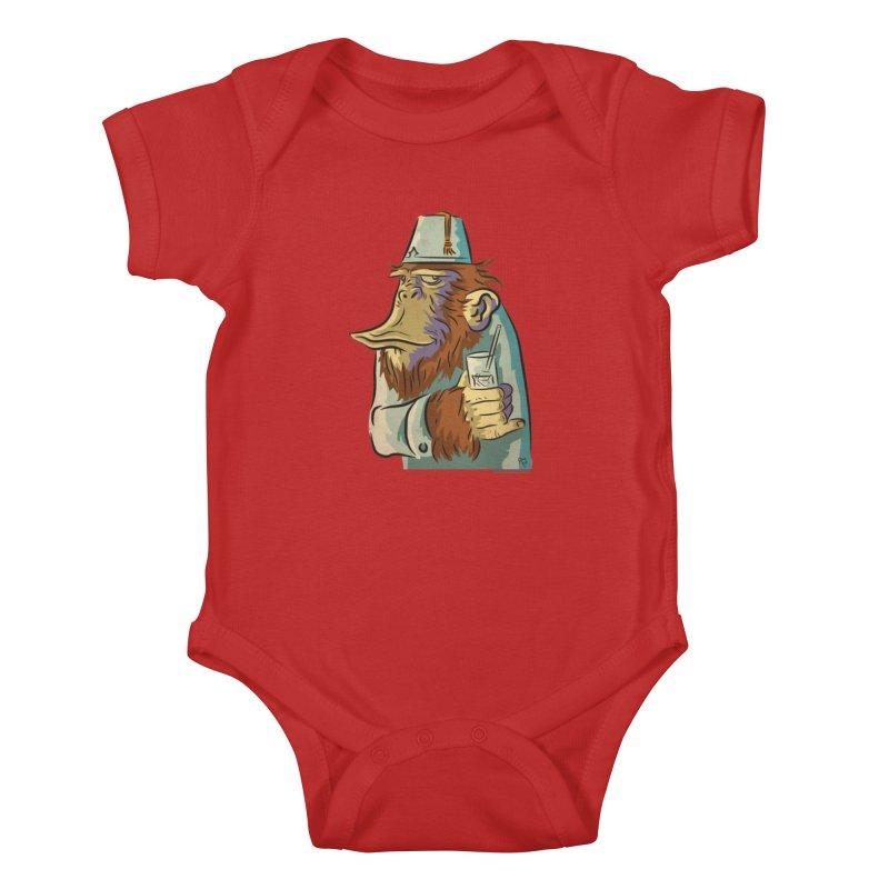 Spence The Chimp Kids Baby Bodysuit by Zerostreet's Artist Shop