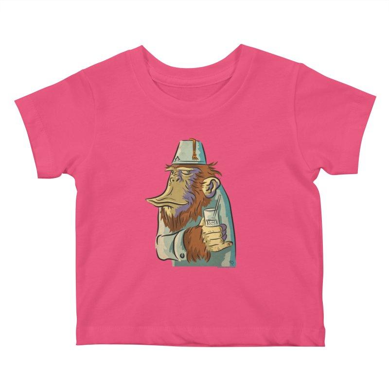 Spence The Chimp Kids Baby T-Shirt by Zerostreet's Artist Shop