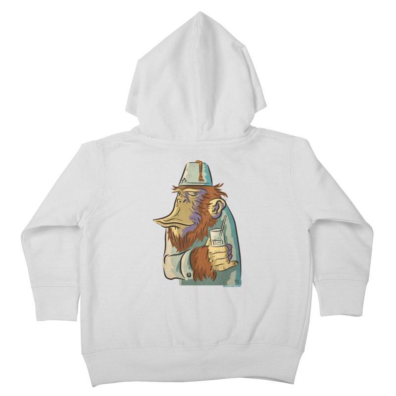 Spence The Chimp Kids Toddler Zip-Up Hoody by Zerostreet's Artist Shop