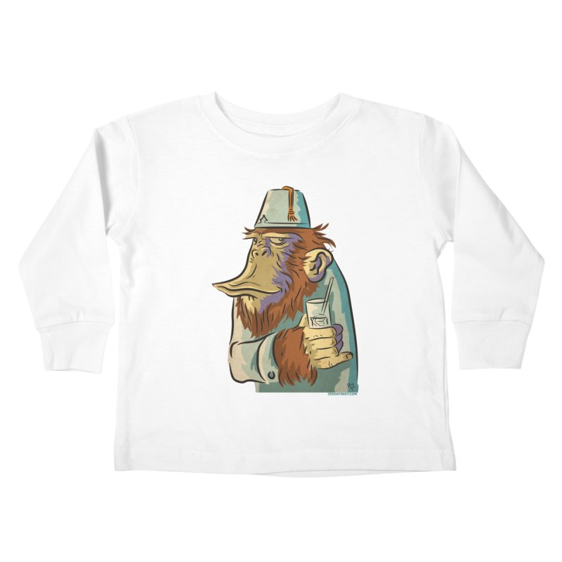 Spence The Chimp Kids Toddler Longsleeve T-Shirt by Zerostreet's Artist Shop
