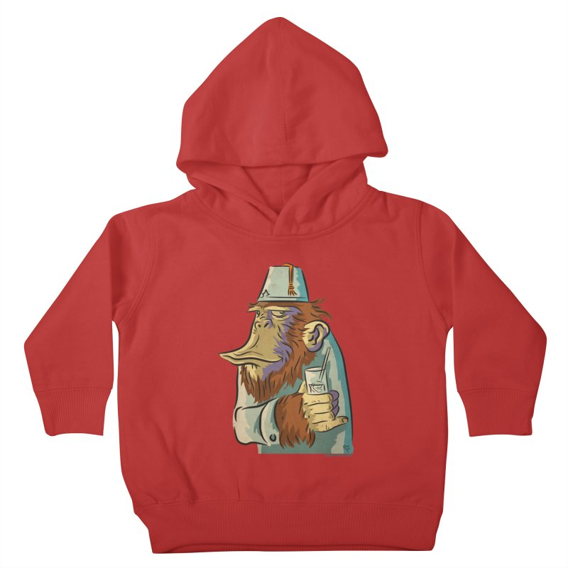 Spence The Chimp Kids Toddler Pullover Hoody by Zerostreet's Artist Shop