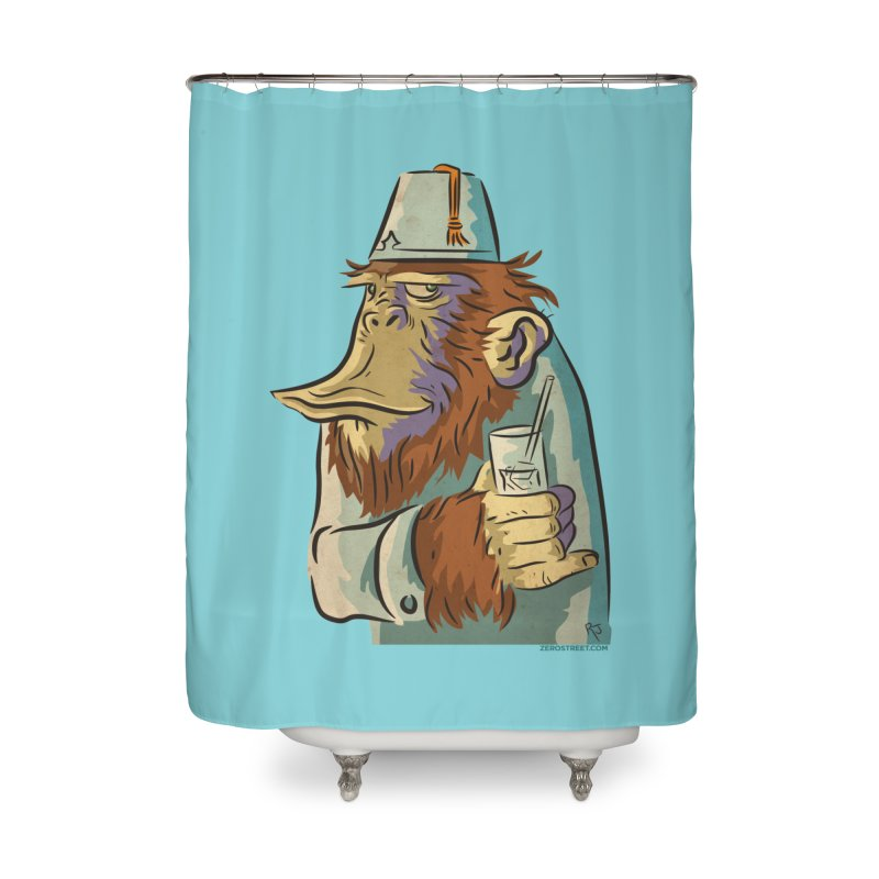 Spence The Chimp Home Shower Curtain by Zerostreet's Artist Shop