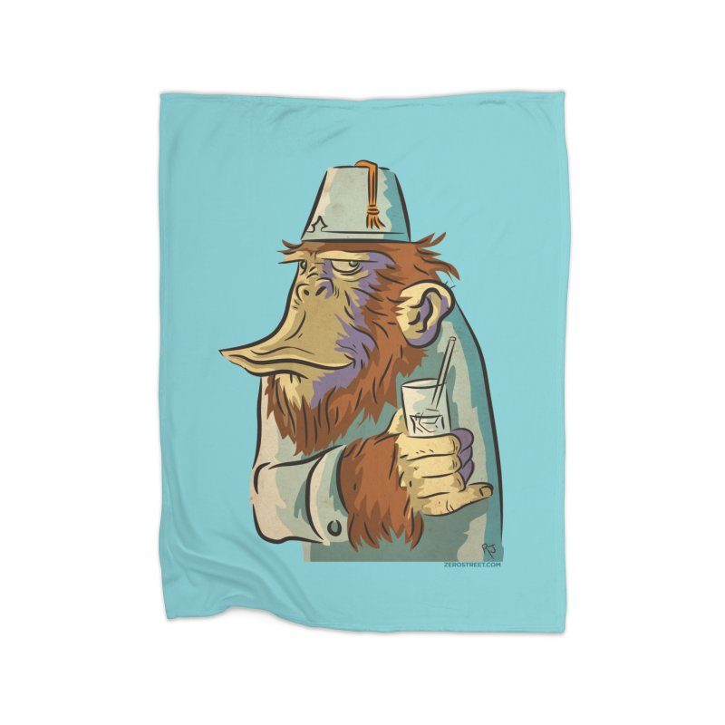 Spence The Chimp Home Blanket by Zerostreet's Artist Shop
