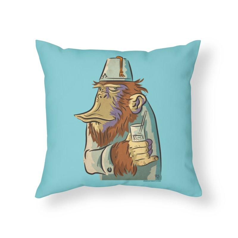 Spence The Chimp Home Throw Pillow by Zerostreet's Artist Shop