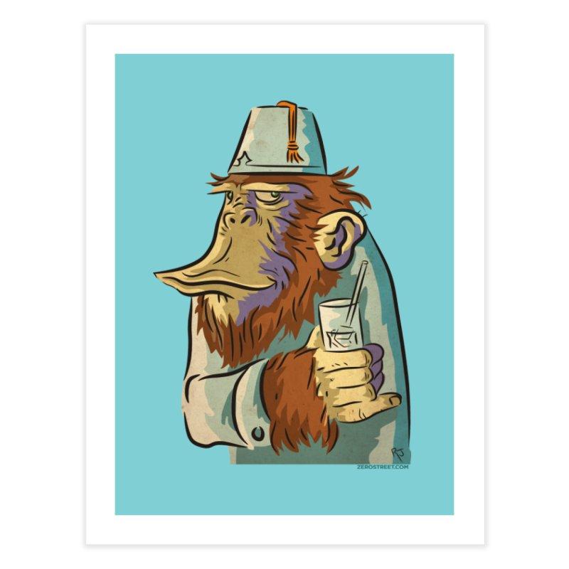 Spence The Chimp Home Fine Art Print by Zerostreet's Artist Shop