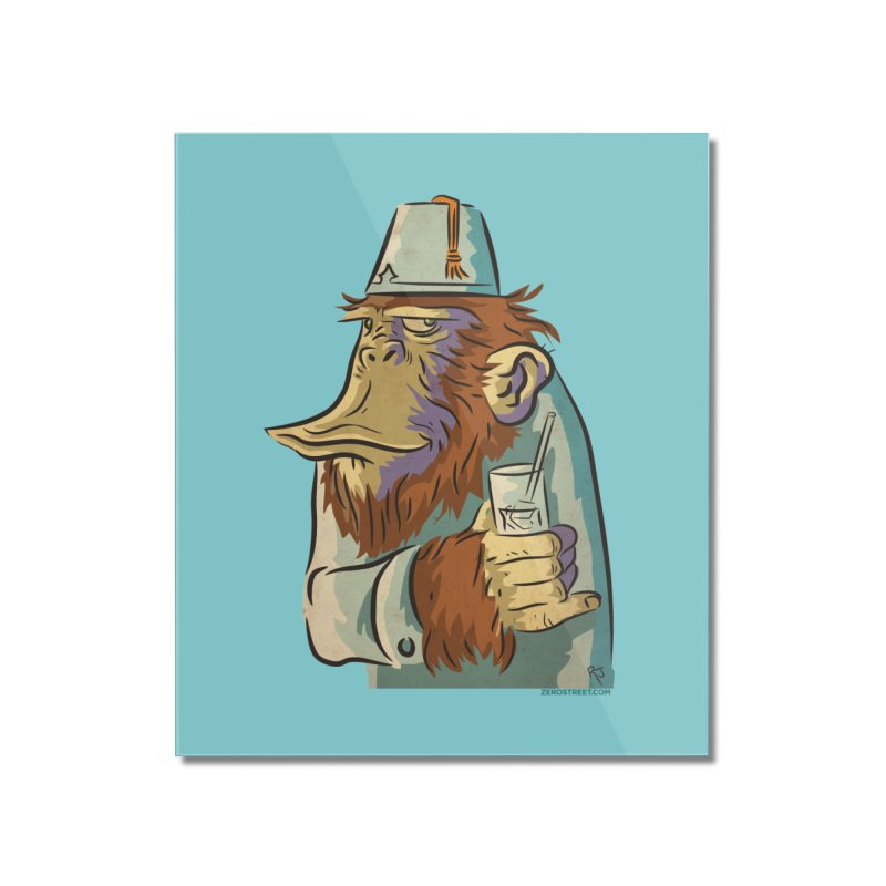 Spence The Chimp Home Mounted Acrylic Print by Zerostreet's Artist Shop