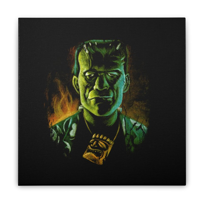 Party Monster Home Stretched Canvas by Zerostreet's Artist Shop