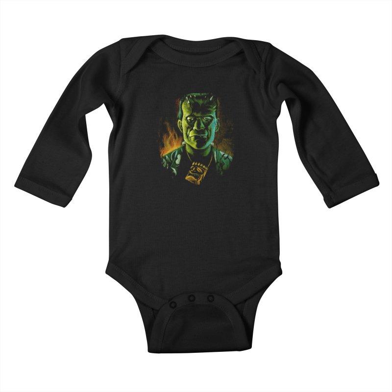 Party Monster Kids Baby Longsleeve Bodysuit by Zerostreet's Artist Shop