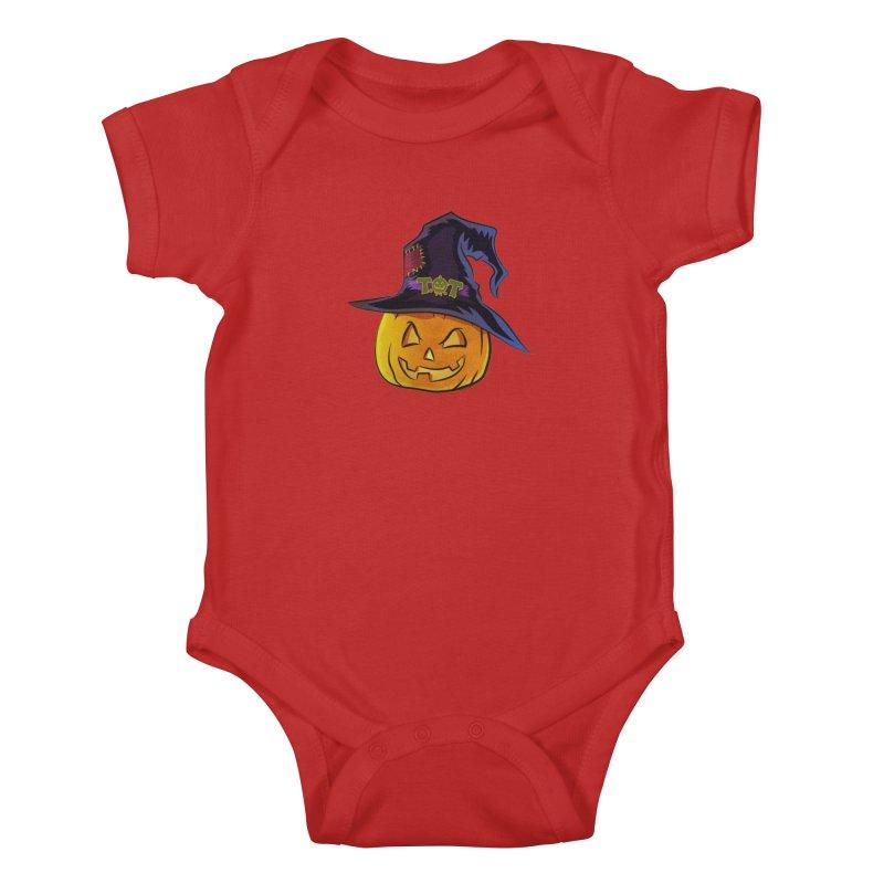 Trick Or Treat Pumpkin Kids Baby Bodysuit by Zerostreet's Artist Shop