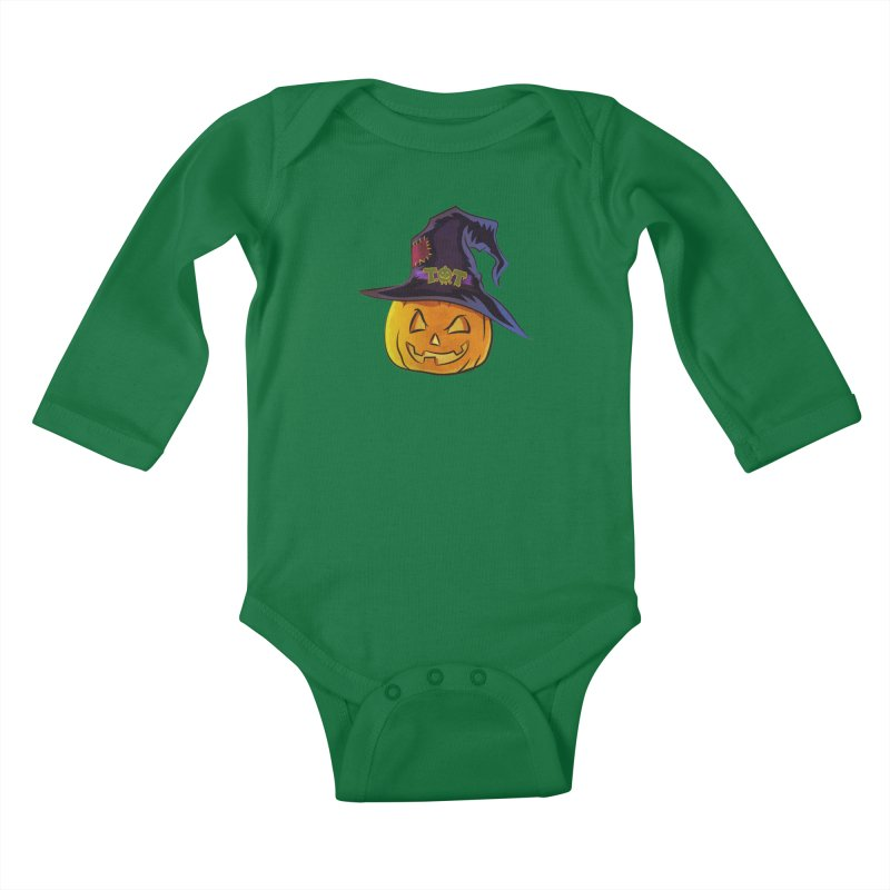 Trick Or Treat Pumpkin Kids Baby Longsleeve Bodysuit by Zerostreet's Artist Shop