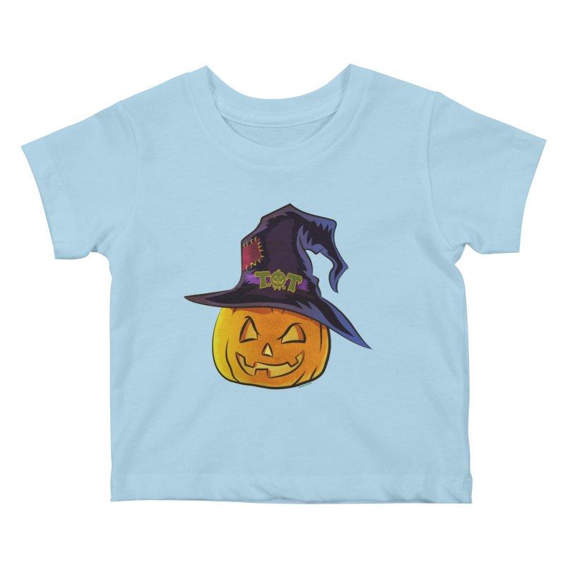 Trick Or Treat Pumpkin Kids Baby T-Shirt by Zerostreet's Artist Shop