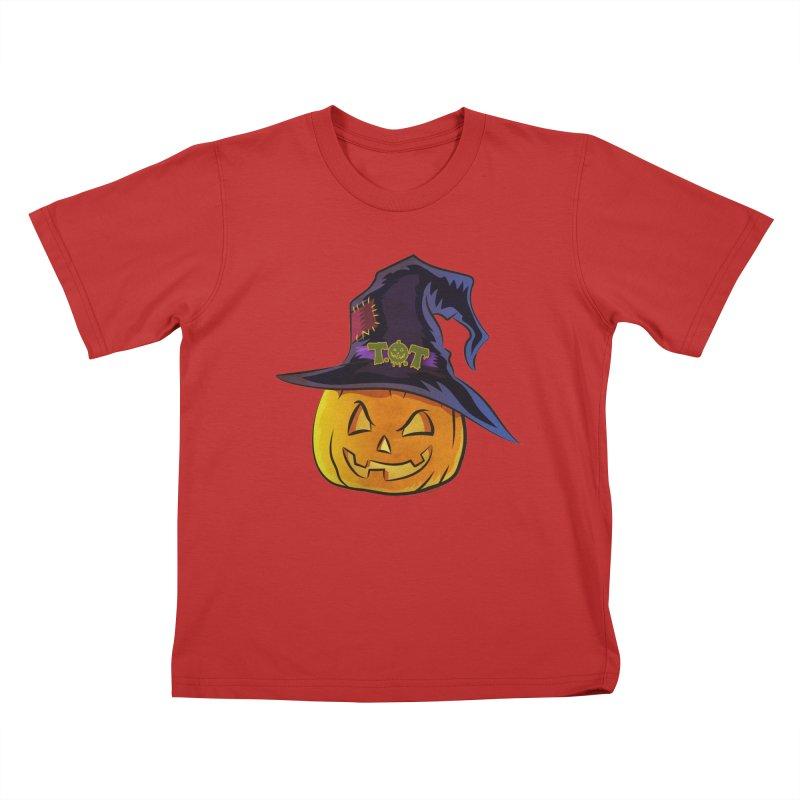 Trick Or Treat Pumpkin Kids T-Shirt by Zerostreet's Artist Shop