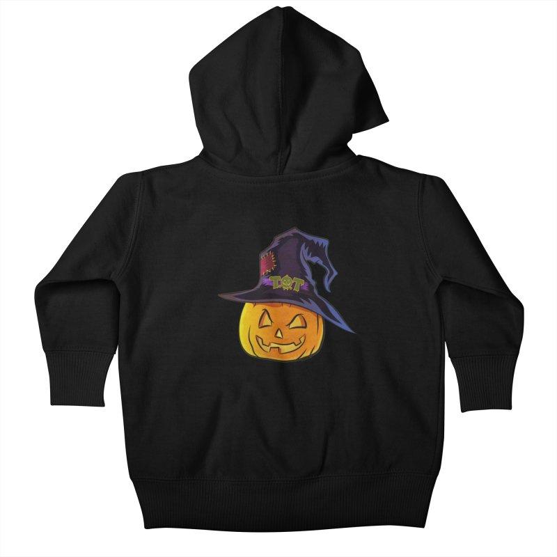Trick Or Treat Pumpkin Kids Baby Zip-Up Hoody by Zerostreet's Artist Shop