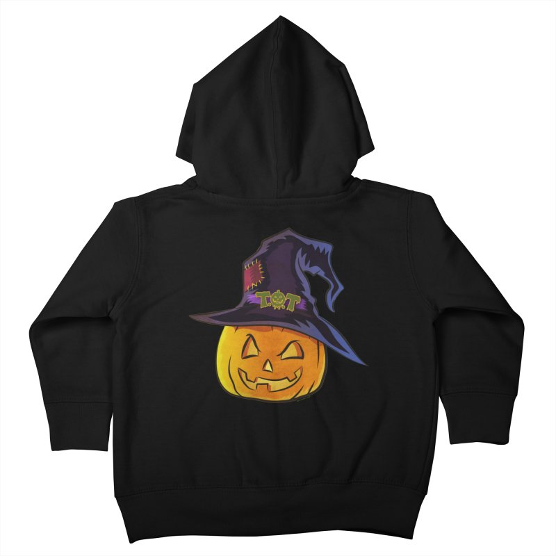 Trick Or Treat Pumpkin Kids Toddler Zip-Up Hoody by Zerostreet's Artist Shop