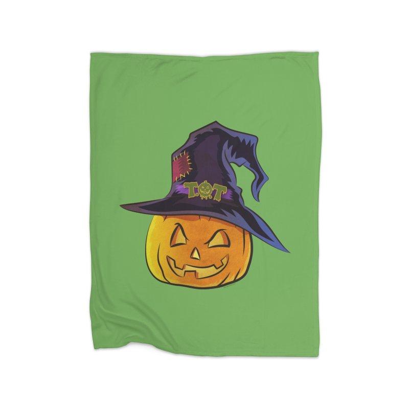 Trick Or Treat Pumpkin Home Blanket by Zerostreet's Artist Shop