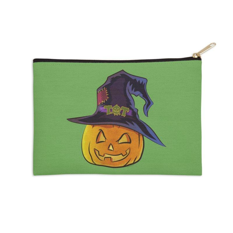Trick Or Treat Pumpkin Accessories Zip Pouch by Zerostreet's Artist Shop