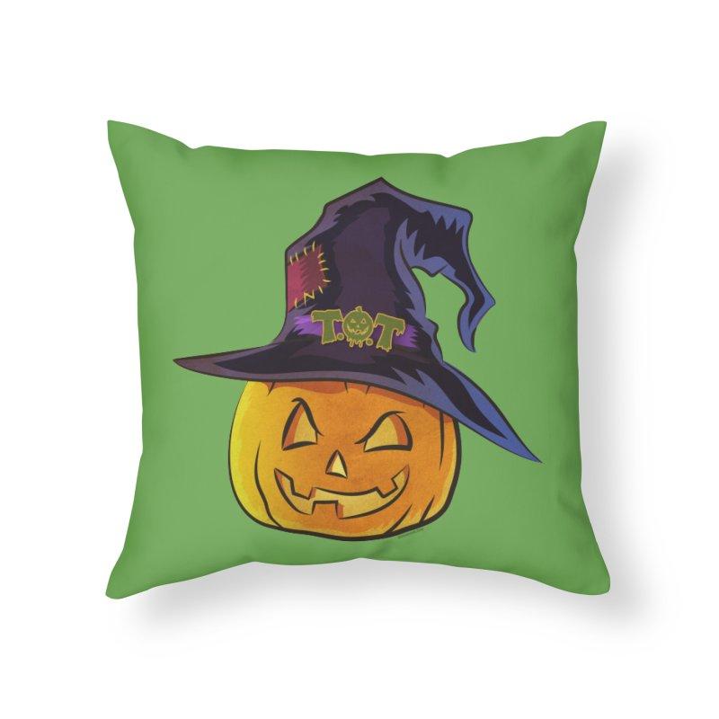 Trick Or Treat Pumpkin Home Throw Pillow by Zerostreet's Artist Shop