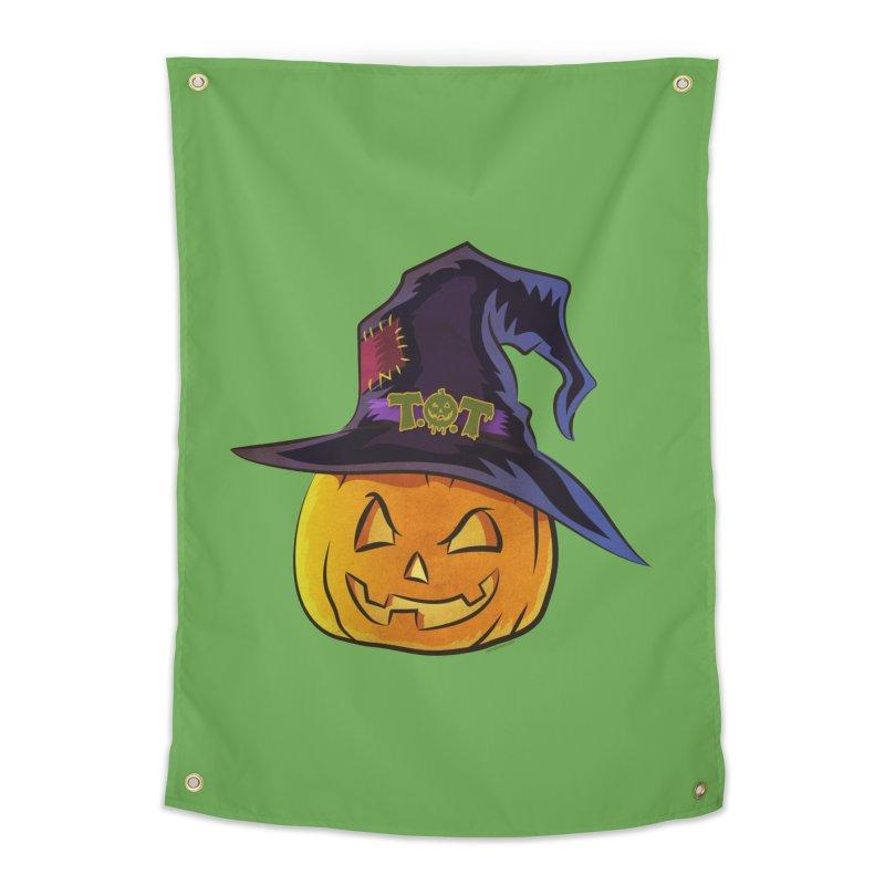 Trick Or Treat Pumpkin Home Tapestry by Zerostreet's Artist Shop